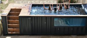 Piscine container extérieur chauffée