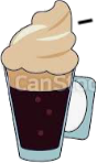Irish coffee made in Normandie
